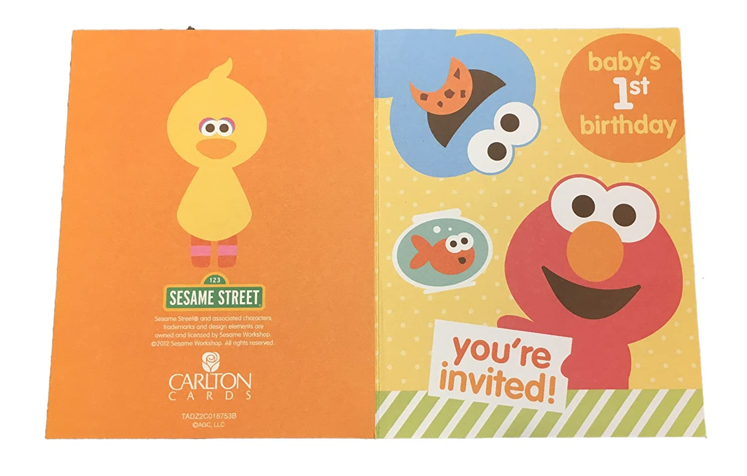 Sesame Street Babys 1st Birthday Party Invitations Elmo 10 Cards American Greetings Christmas Gift Store