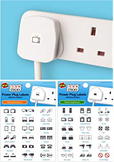 fuse box circuit breaker organiser labels 2 sheets amazon co uk power plug labels for home electronics appliances 2 pack