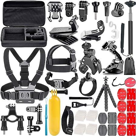 Neewer Kit de Accesorios de Cámara de Acción 58 en 1 para GoPro Hero 9 8 MAX 7 6 5 4 Negro 2018 Sesión, SJ4000/5000, para Nikon y Sony Deporte DV para ...