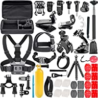 Neewer 58-In-1 Action Camera Accessory Kit Compatible with GoPro Hero 9 8 Max 7 6 5 4 Black GoPro 2018 Session Fusion…