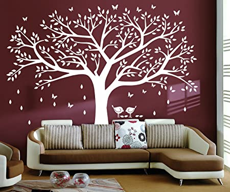 Large DIY Family Tree Wall Art Stickers Removable Vinyl Black Tree(Photo  Frame)Wall
