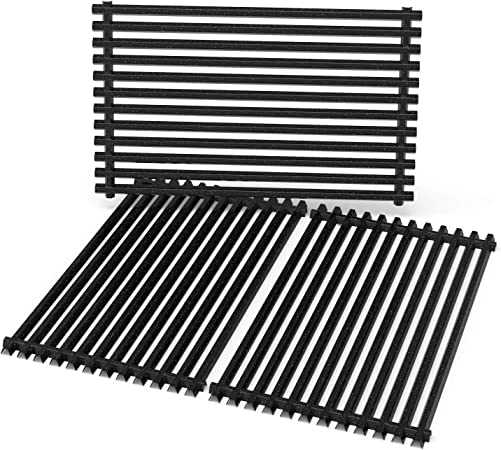 Amazon Com Stanbroil Porcelain Enameled Cooking Grate For Weber Genesis Ii And Genesis Ii Lx 400 Series Gas Grills Replacement Parts For Weber 66097 Set Of 3 Garden Outdoor