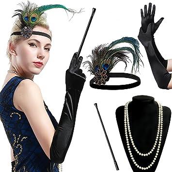 BABEYOND 1920 Flapper Accesorios Años 20 Disfraz Gatsby Conjunto ...