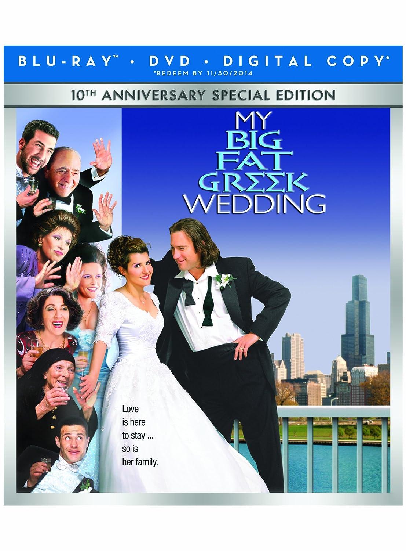 Amazon Com My Big Fat Greek Wedding 10th Anniversary Special Edition Blu Ray Nia Vardalos Michael Constantine Christina Eleusiniotis Kaylee Vieira Lainie Kazan Joel Zwick Movies Tv