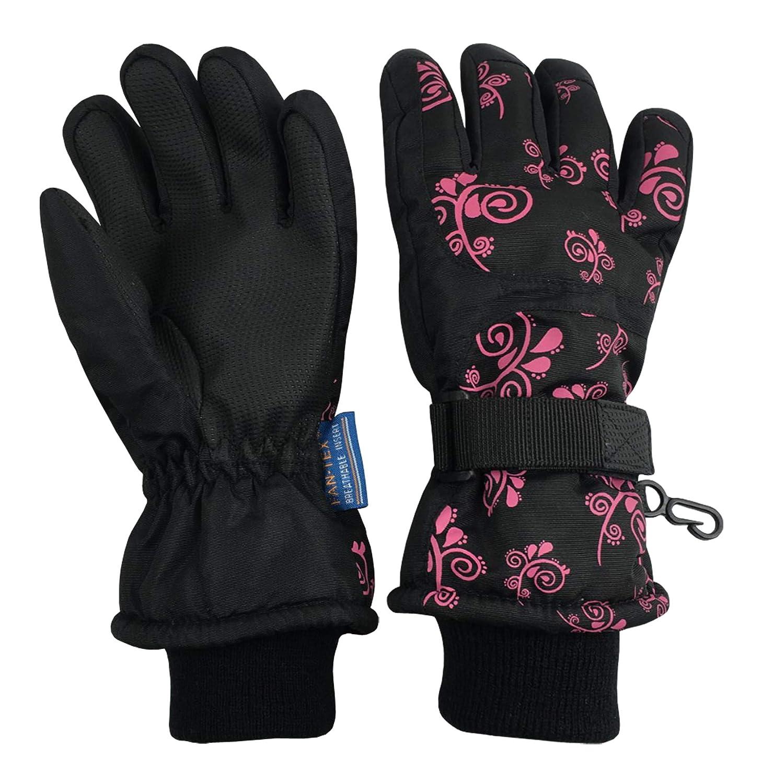 N'Ice Caps Kids Scroll Print Thinsulate Waterproof Snowboarder Winter Gloves 4976-PS-FU-TSM