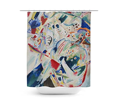 Kandinsky Abstract Art Painting Shower Curtain