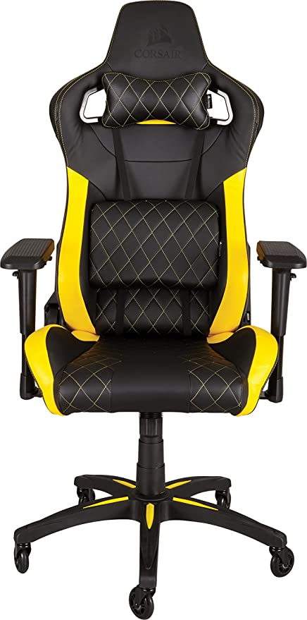amazon com corsair t1 race gaming chair high back desk office