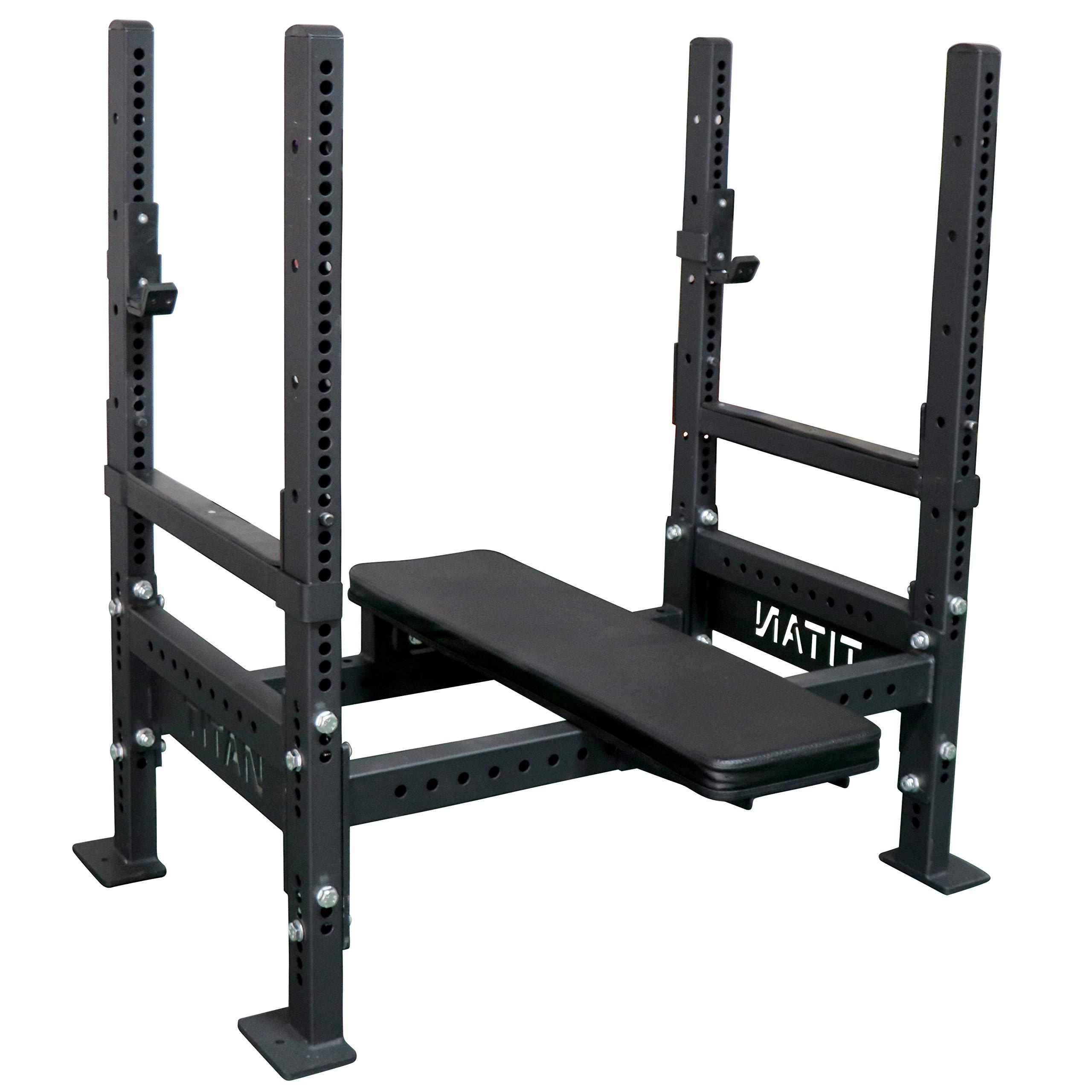 Titan Bench Press Rack w/Flip Down Safeties