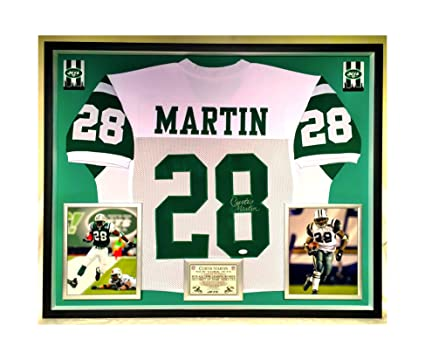 new style b4635 3fdb7 Premium Framed Curtis Martin Autographed/Signed New York ...