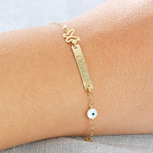 Amazon baby jewelry 14k solid gold personalized bracelet baby jewelry 14k solid gold personalized bracelet gold baby bracelet gold gift negle Choice Image