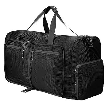Amazon.com: Bolsa de viaje plegable y ligera de 80 l para ...