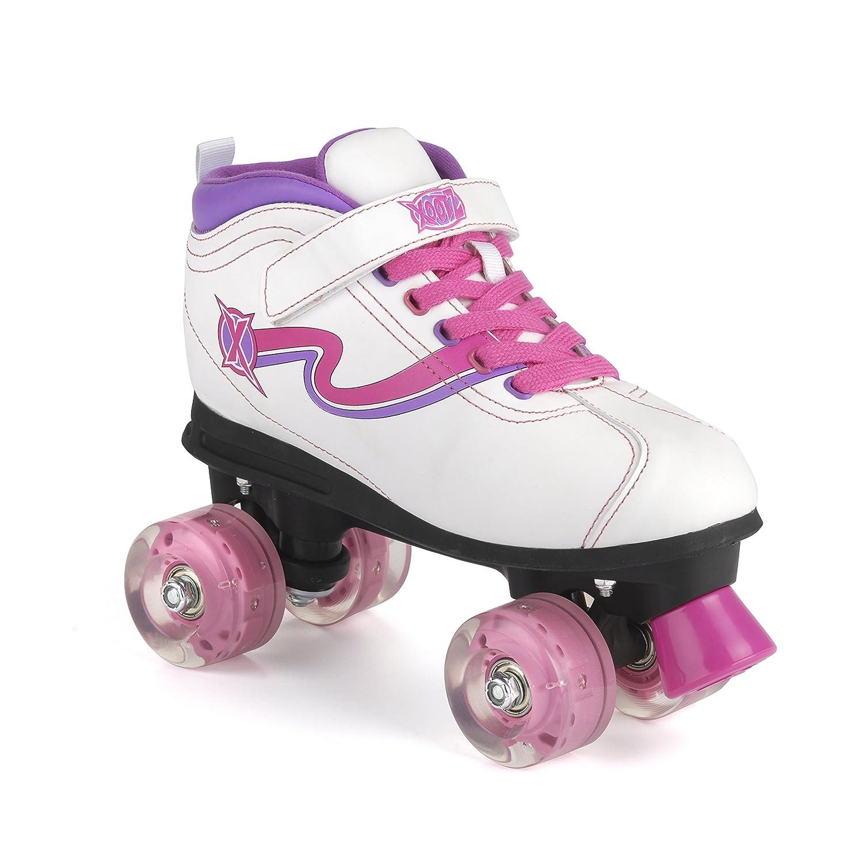 Roller skates light up - Xootz Disco Led Light Up Wheels Retro Quad Roller Skates