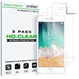 iPhone 8 7 6S 6 Screen Protector HD Clear Protective Film (NOT GLASS) for iPhone 8 7 6 6S 4.7 inch 2017 2016 2015 (3-Pack)