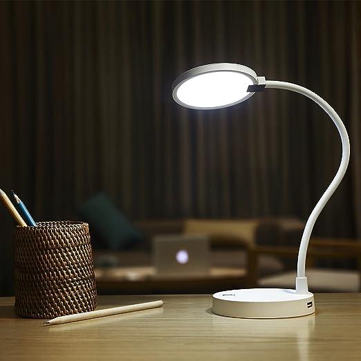 LED Tisch-Leuchte Schreibtisch-Lampe Büro dimmbar Touch Leselampe Nachttisch DT