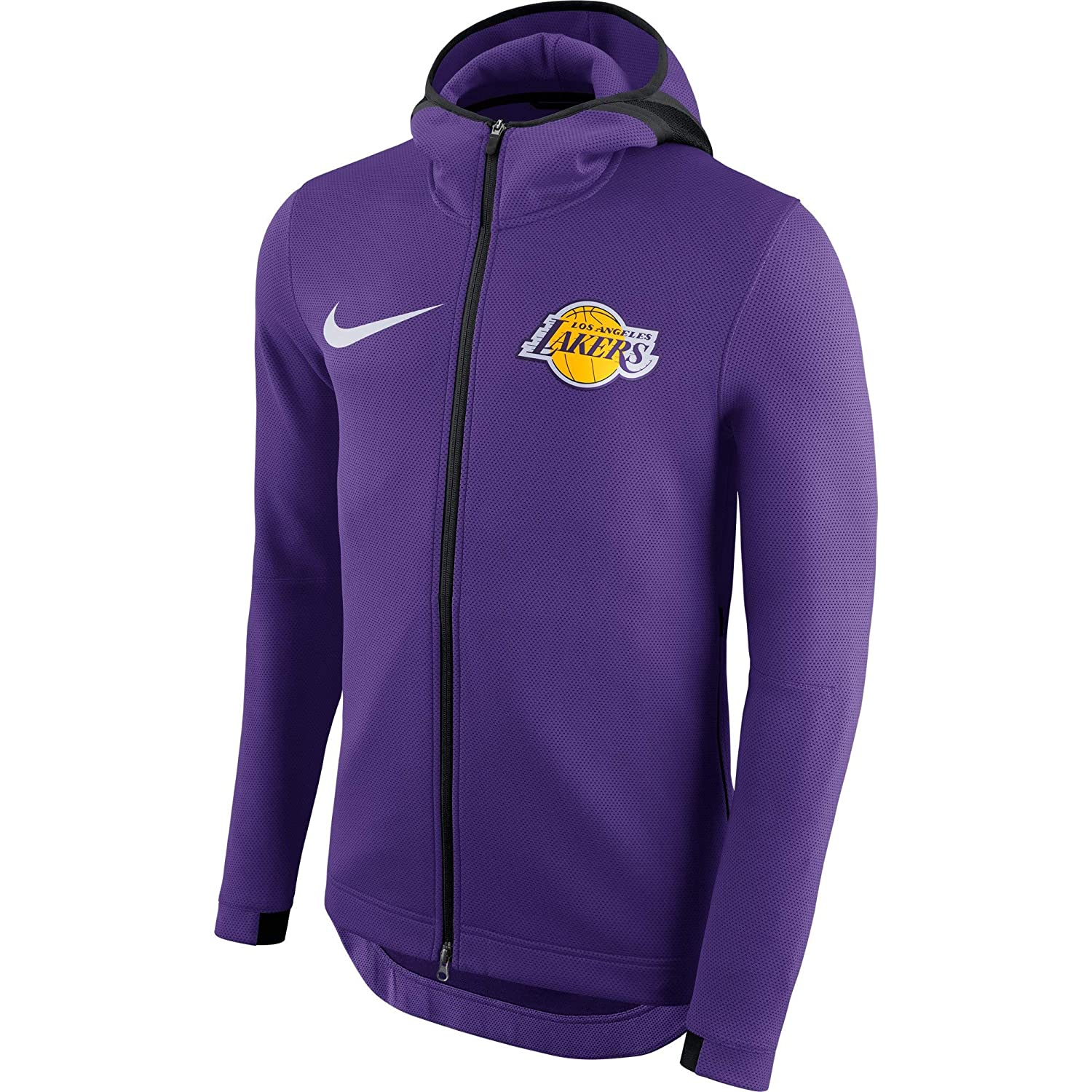 huge discount 1d928 618fd Amazon.com   LA Lakers 2018 Men s Showtime Therma Flex Performance Full-Zip  Hoody - Purple   Sports   Outdoors
