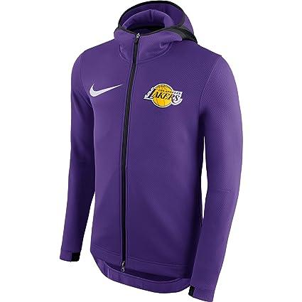 232b6f93b LA Lakers 2018 Men's Showtime Therma Flex Performance Full-Zip Hoody -  Purple (Small