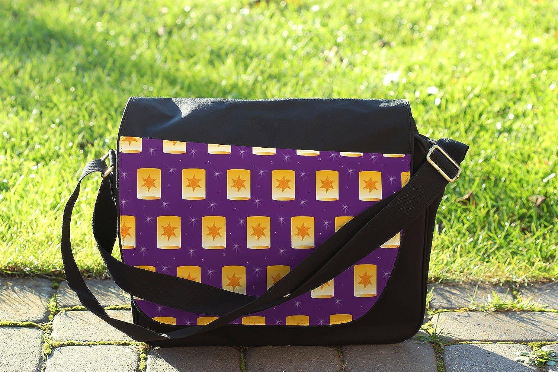 Cross Body Laptop School Work Bag Tangled Floating Lanterns Messenger Bag