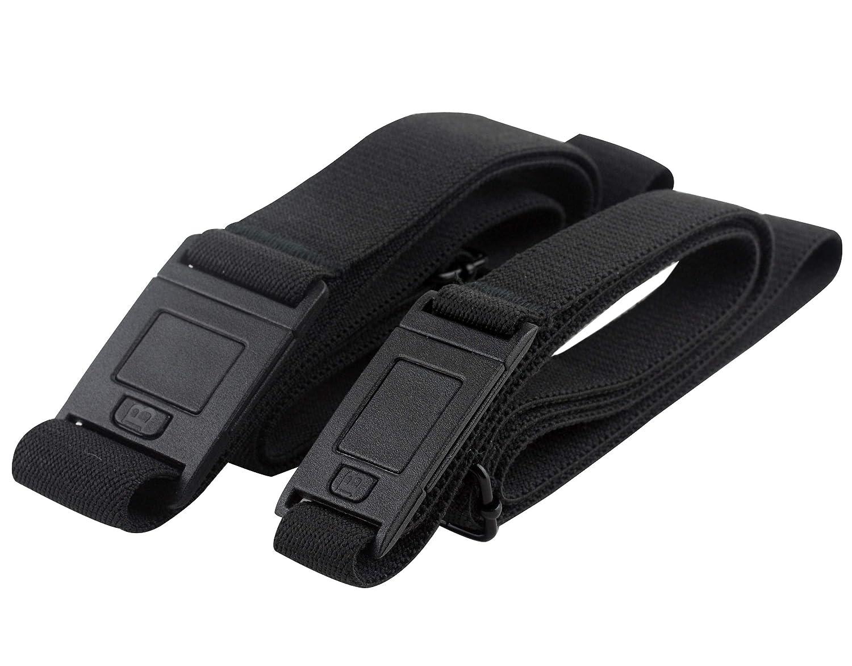 Beltaway SQUARE Adjustable Stretch Belt With No Show Square Buckle Adjustable Stretch Invisible Belt (One Size (0-14) Denim) BeltaSQfba Denim