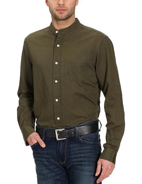 Eddie Bauer - Camisa de Manga Larga con Cuello Mao para Hombre ... df952d5e884