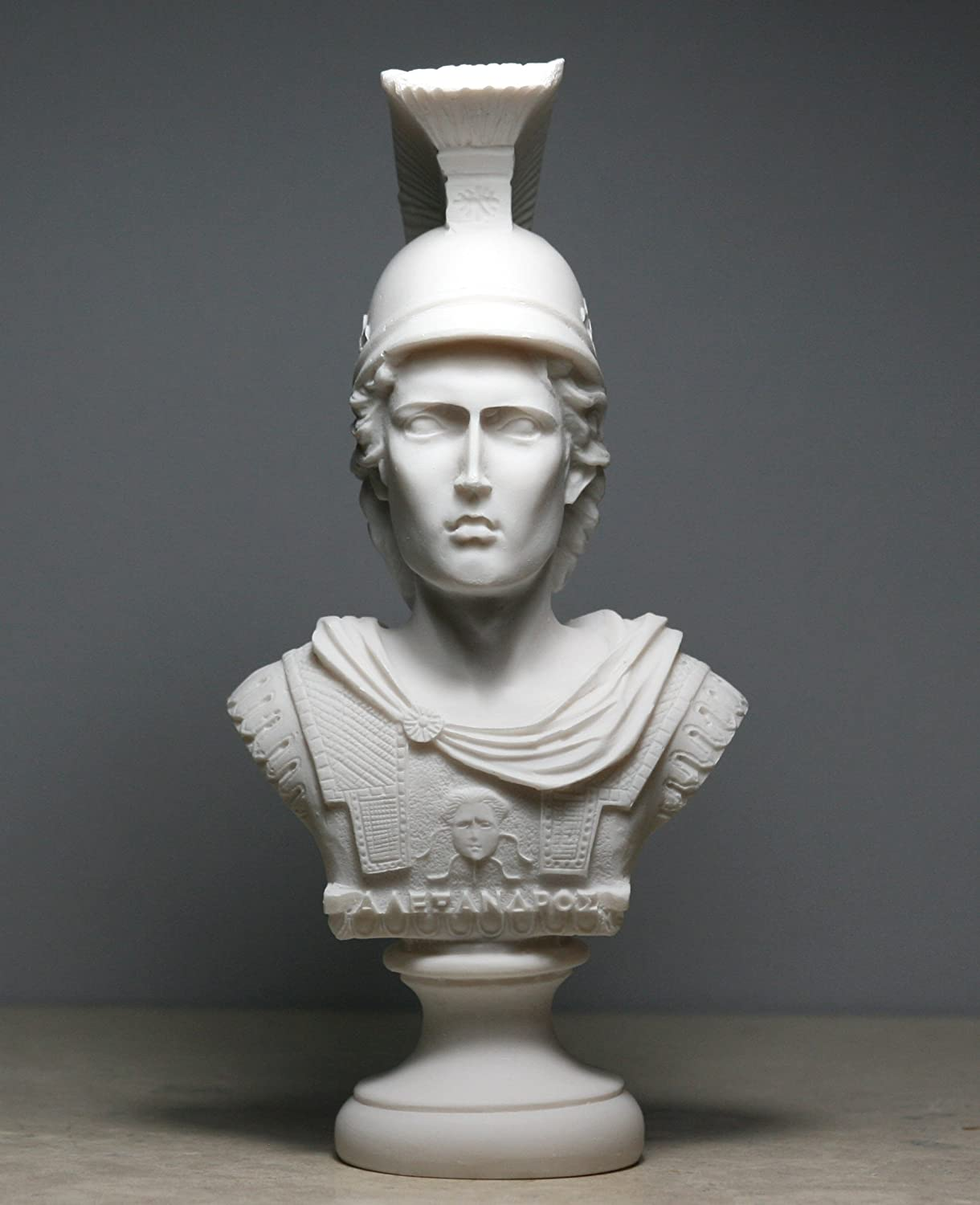 Alexander the Great bust Sculpture Alabaster Statue 7.48΄΄