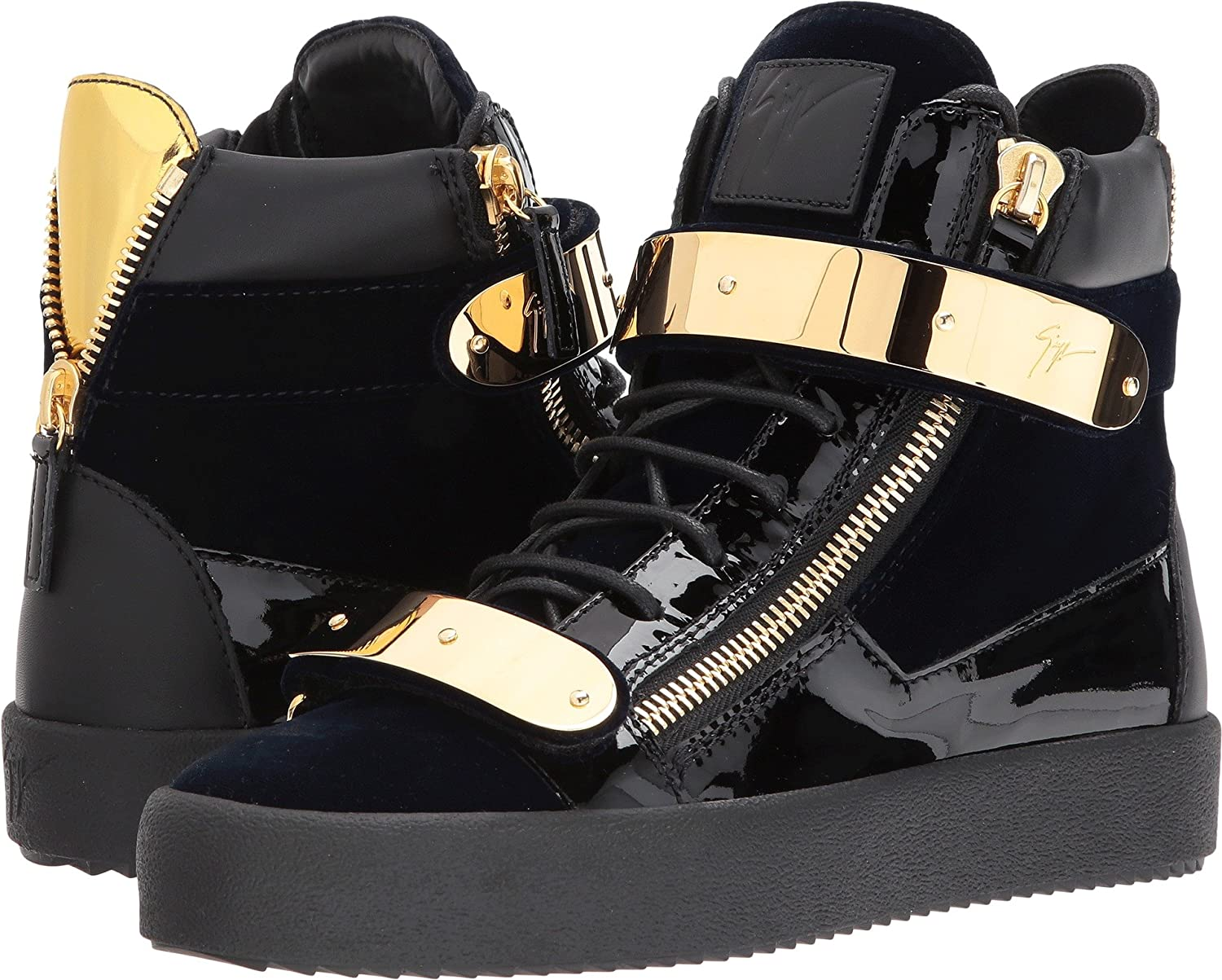 997ff4d41d35c Amazon.com | Giuseppe Zanotti Mens May London High Top Embroidered Sneaker  | Shoes