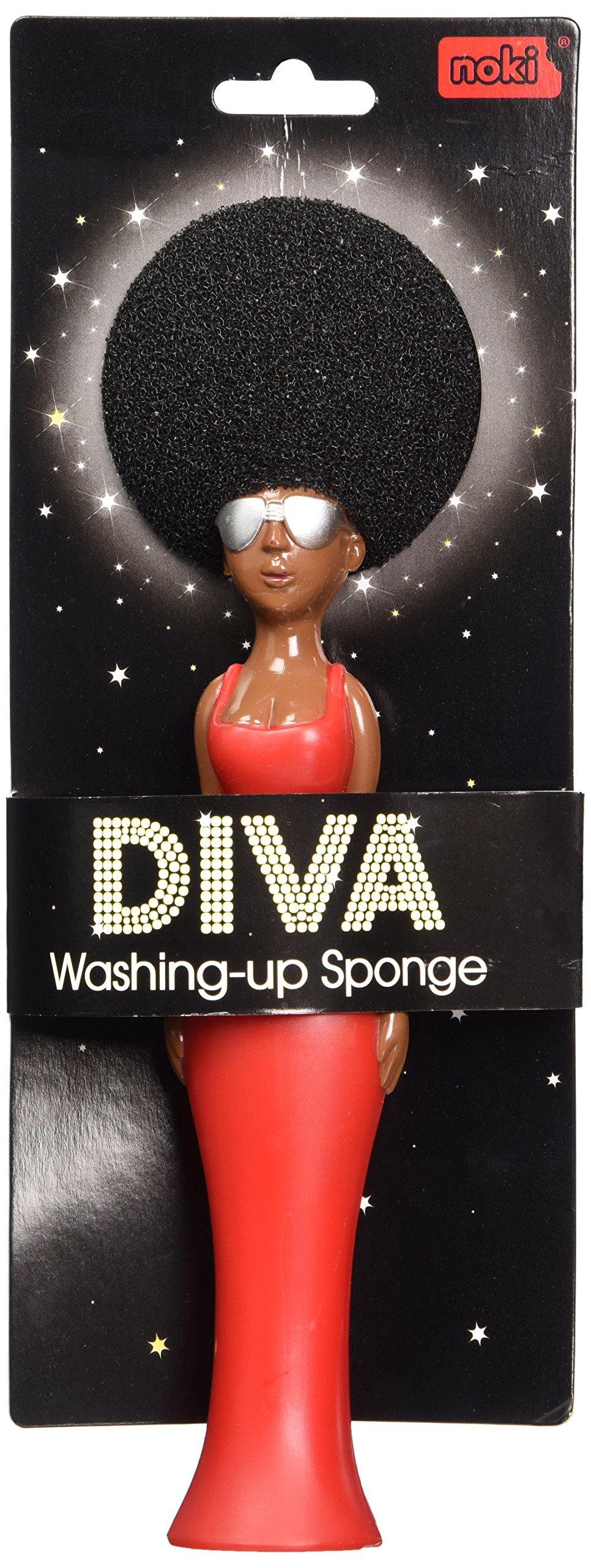 Paladone Diva Washing Up Brush with Afro Sponge Hair