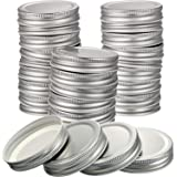 Chuangdi 30 Packs Mason Jar Lids Regular Mouth Leak Proof Secure Mason Storage Solid Caps (Silver)