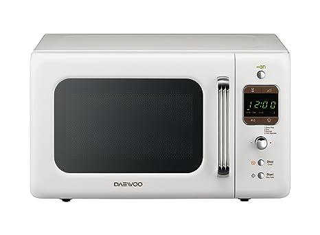 Daewoo KOR-6LBW - Microondas 20 litros digital sin grill, 800 W, color blanco