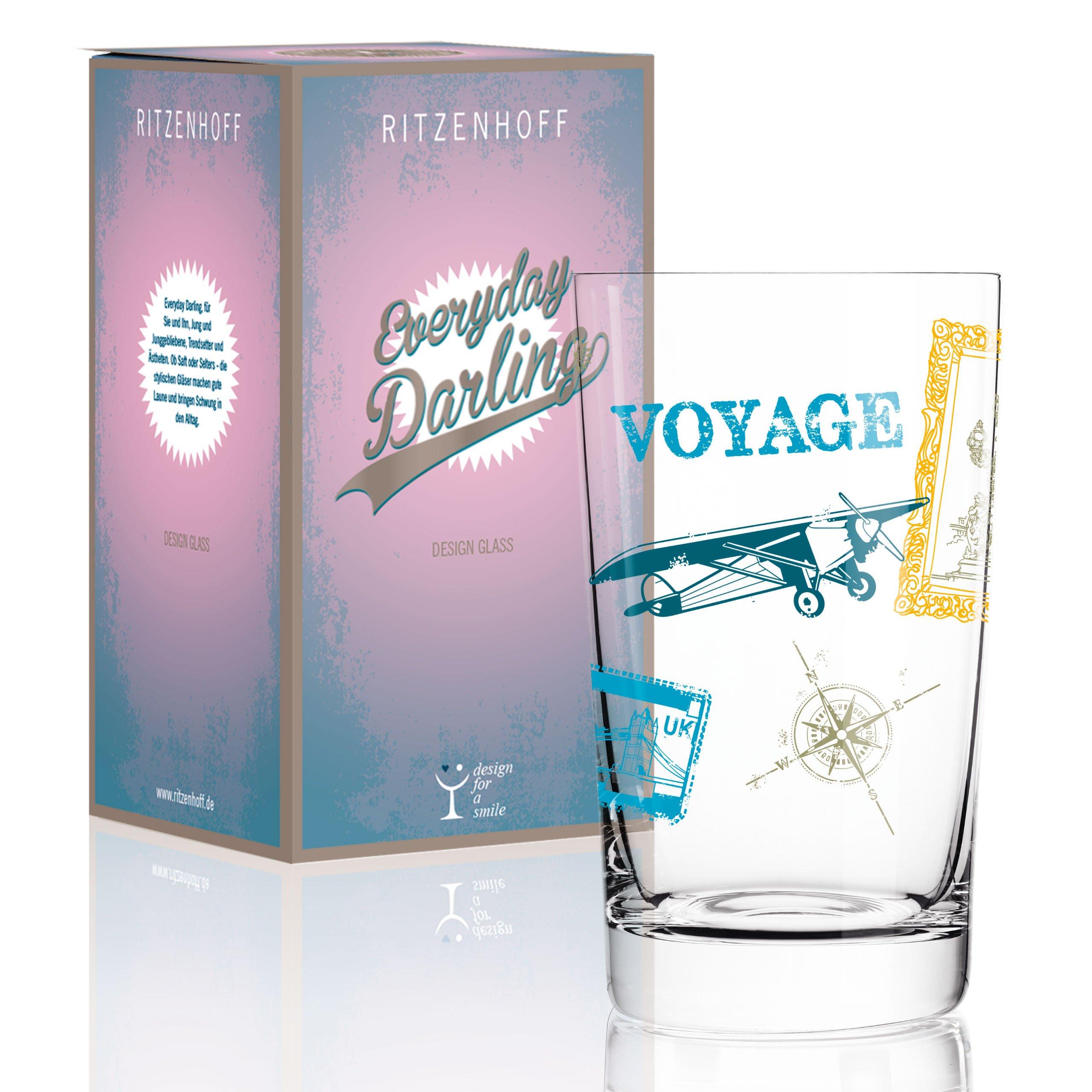 Ritzenhoff 3270014Everyday Darling Softdrinkglas, 7.3x 7.3x 5cm Multicoloured