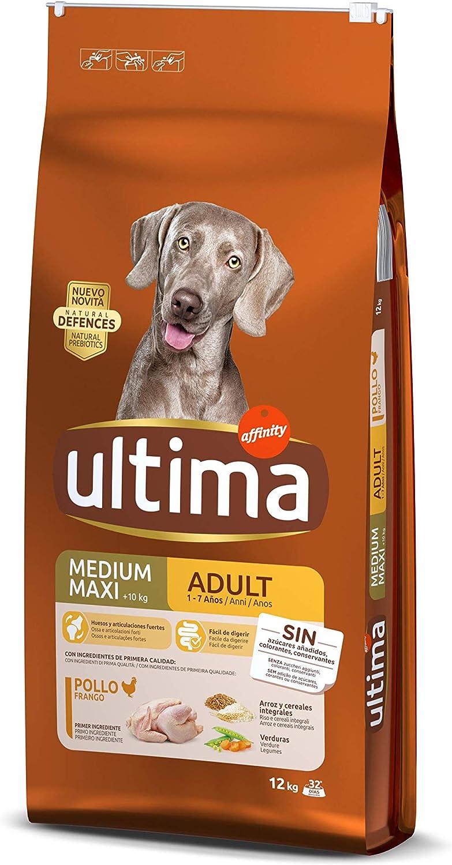 Ultima Comida para Perros Medium Maxi Adultos con Pollo, 12 kg