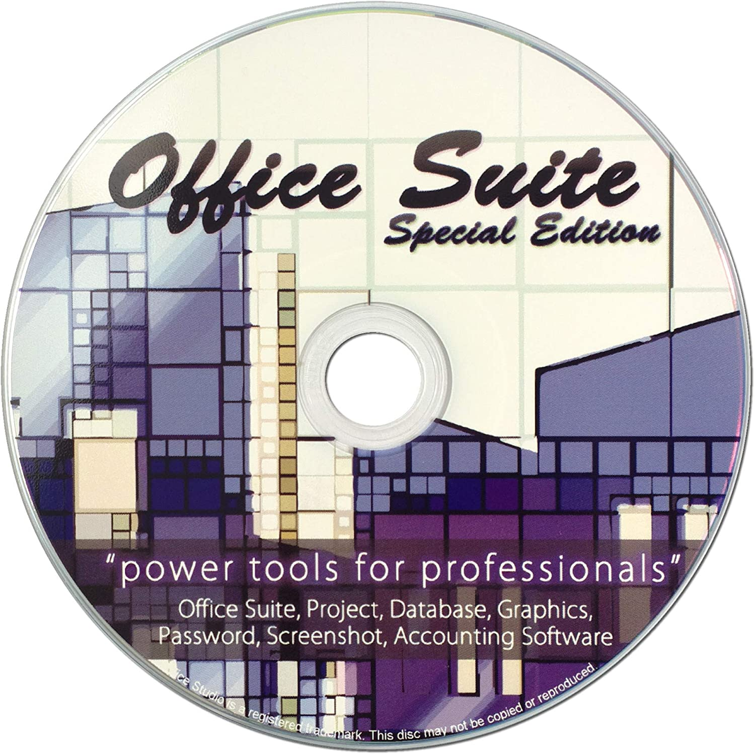 Office Studio Special Edition on CD for Home Student and Business, Compatible with Microsoft Office Word Excel PowerPoint for Windows 10 8 7