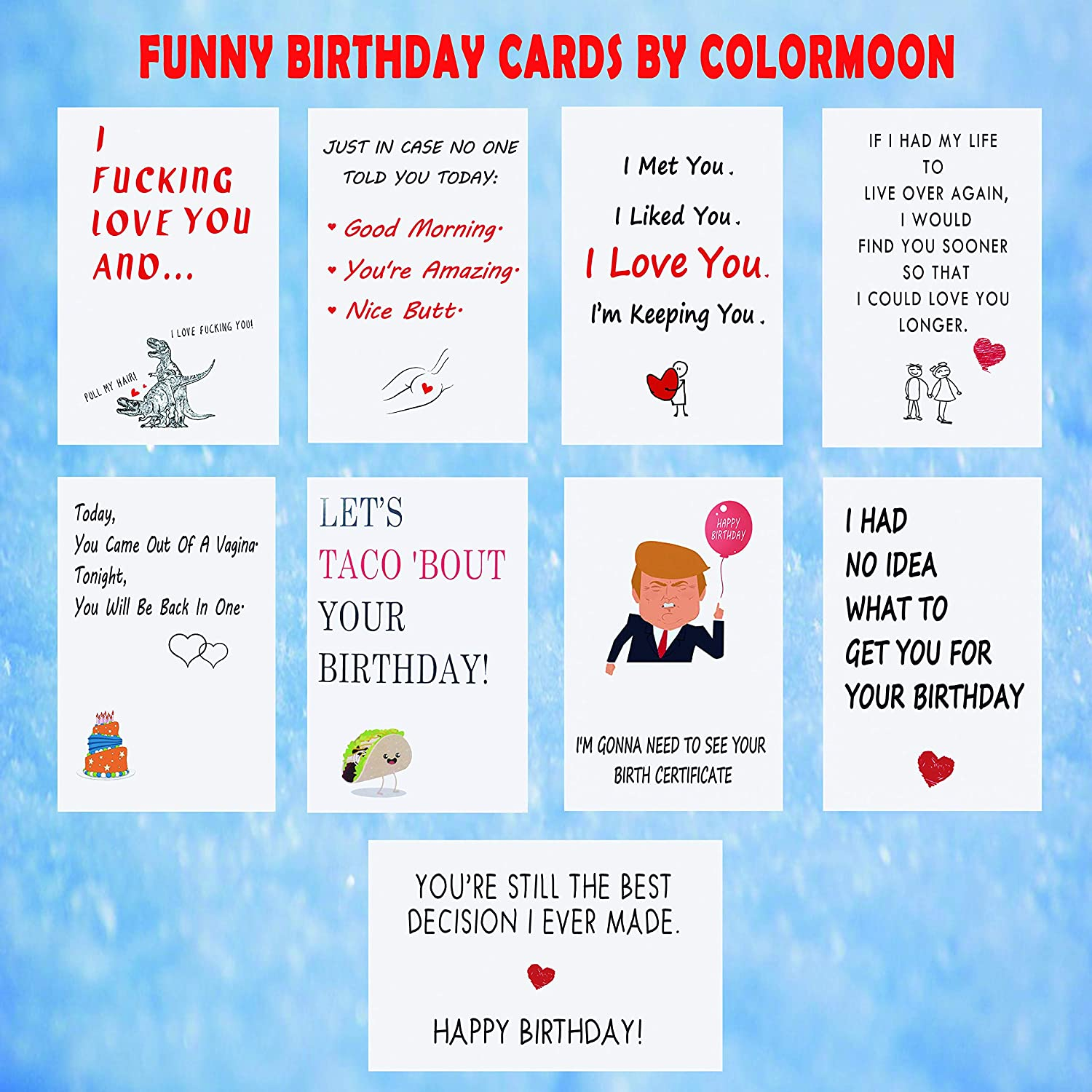 SUPER COLOURFUL I JUST CALLED TO SAY I LOVE YOU WIFE BIRTHDAY GREETING CARD