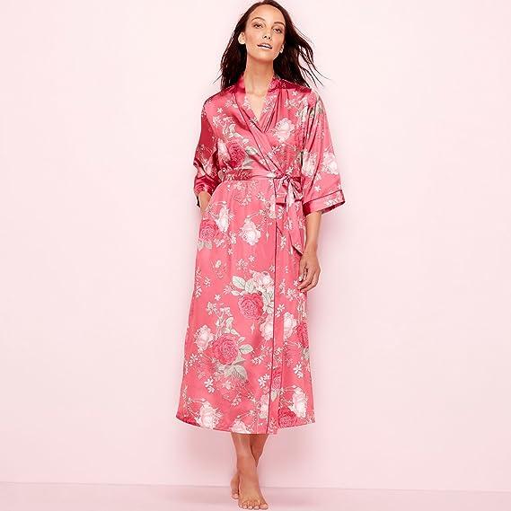 Debenhams The Collection Womens Pink Floral Print Satin 3/4 Length ...