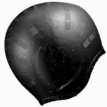 5880f924639 OMORC Silicone Swimming Cap, [2019 New Version] Anti-Tear Ergonomic Pockets  to
