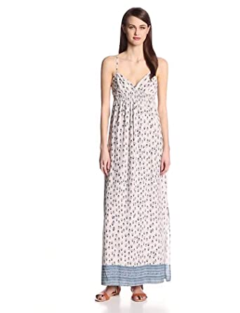 eight sixty Women's Samona Valley Racerback Maxi Dress, Scour/Denim, Medium