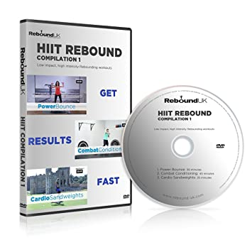 HIIT Rebound Compilation 1 DVD containing 3 high energy Mini Trampoline  workouts  Our Rebounding DVD will Burn fat & get into great shape FAST!  Claim
