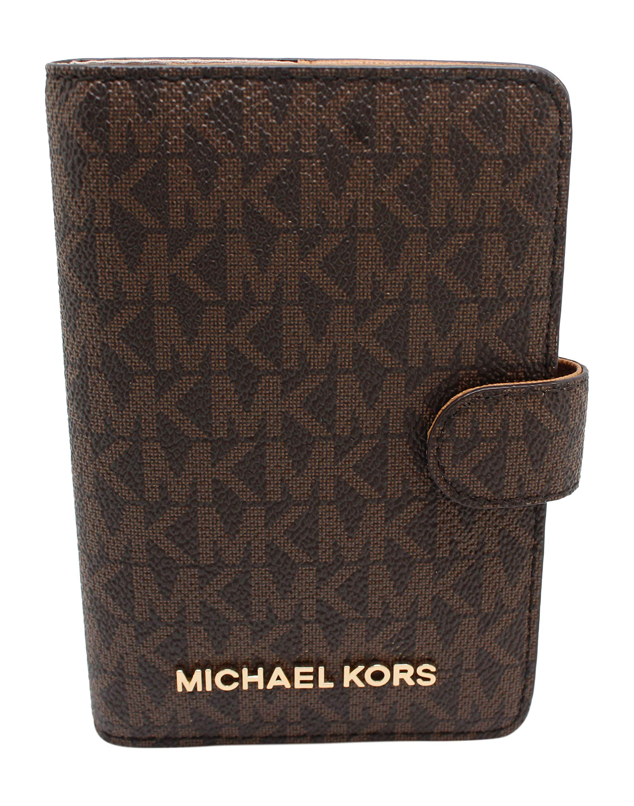 Michael Kors Jet Set Travel Passport Case Wallet (Brown PVC 2018) by Michael Kors