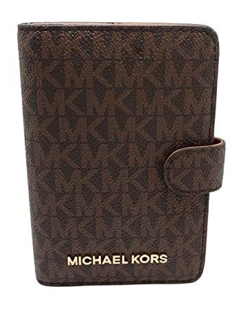 a13a9b15e576 Amazon.com | Michael Kors Jet Set Travel Passport Case Wallet (Brown PVC  2018) | Passport Covers
