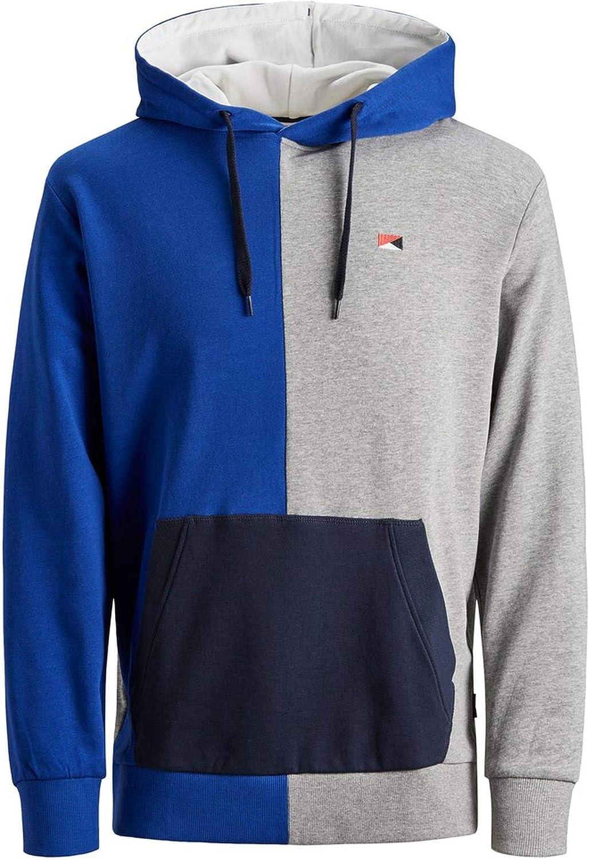 Jack /& Jones Originals Hoodie Mens Colour Block Oversize Pullover Sweater Jumper
