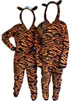 ONESIE, TIGER,ANIMAL PRINT CHILDRENS-KIDS,UNISEX,FANCY DRESS COSTUME,ALL IN ONE PYJAMA SUIT,GIRLS,BOYS,10/11/12/13/14 years (12-14 years)