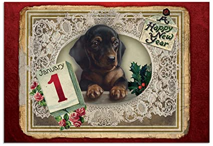b1760gnyg box set of 12 lacy holidays new year card featuring a victorian styled