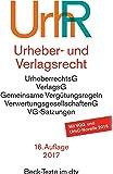 Urheber- und Verlagsrecht: Urheberrechtsgesetz, Verlagsgesetz, Recht der urheberrechtlichen Verwertungsgesellschaften, Internationales Urheberrecht (dtv Beck Texte)