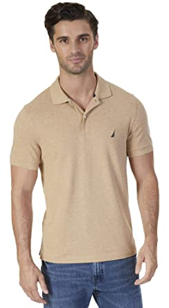 Nautica Mens Slim Fit Short Sleeve Solid Polo Shirt, Espresso ...