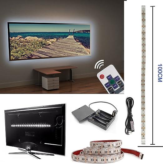 Televisor LED TV Fondo, 100 cm USB LED Iluminación de fondo para ...