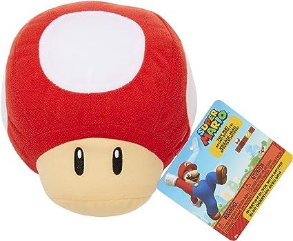 Amazon Com Nintendo Sfx Plush Red Power Up Mushroom Toys Games