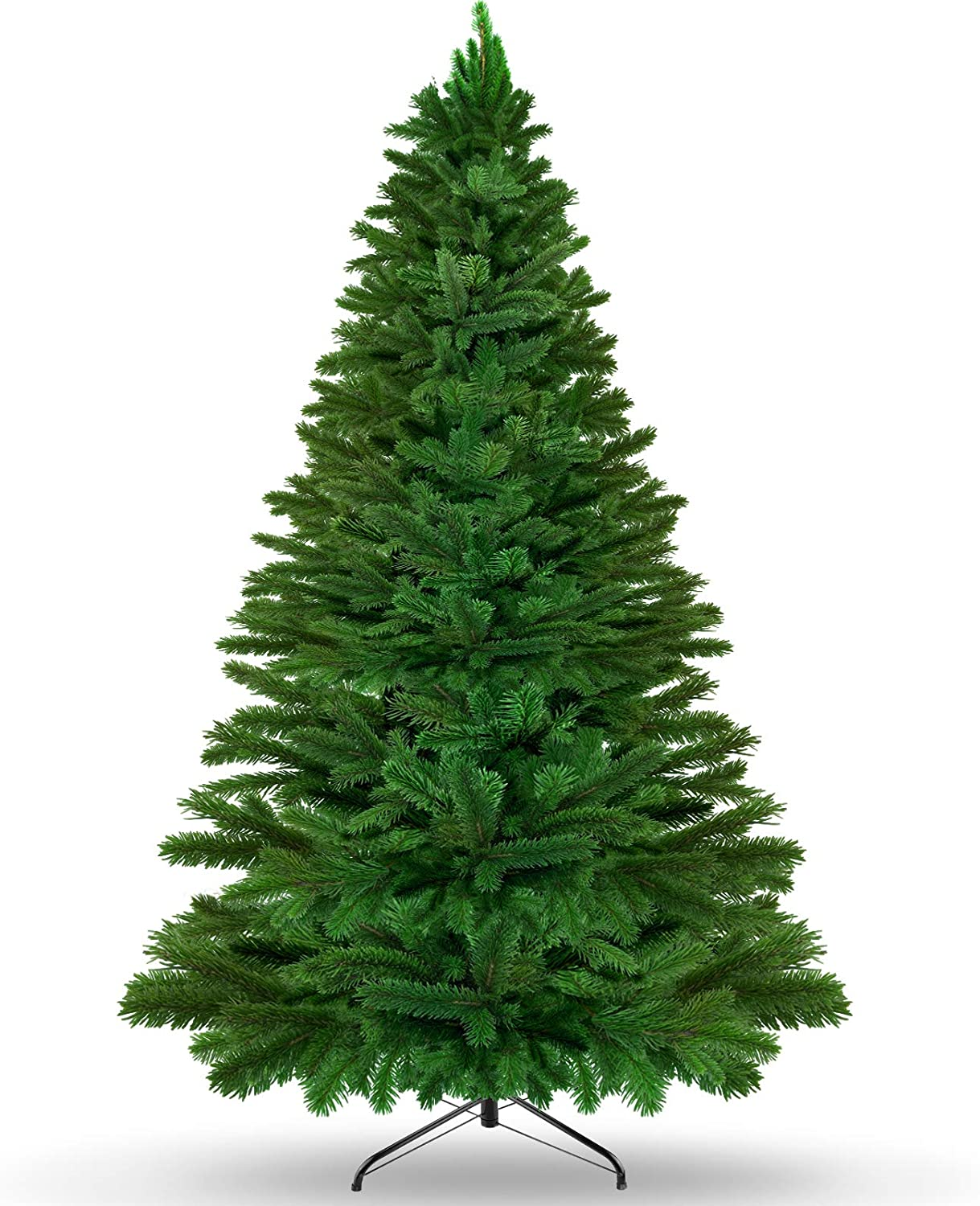 KKTICK Artificial Christmas Tree, Upgrade Fake Xmas Tree with Durable Metal Stand, Easy Assemble, 1422 Branch Tips for Lush Looking, Holiday Decorations for Home and Office, 6ft
