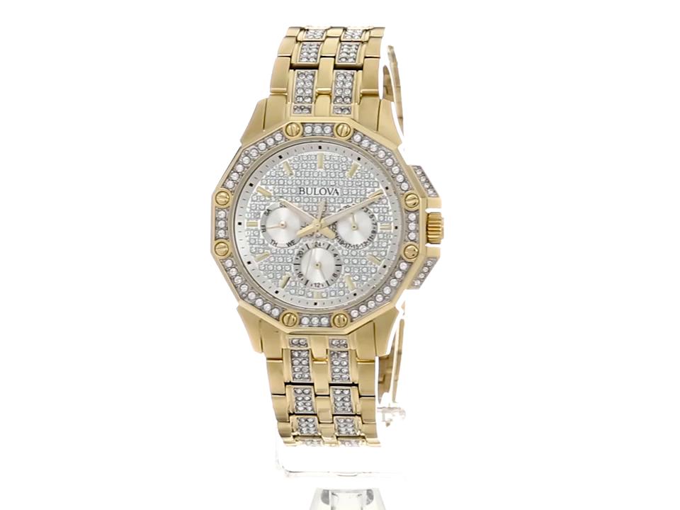 Bulova-Mens-98C126-Swarovski-Crystal-Pave-Bracelet-Watch