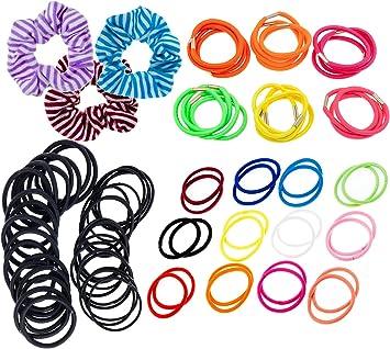 VAGA Pack de 87 suaves scrunchies, ligas para el pelo, coleteros ...