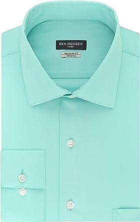Van Heusen Flex Collar Stretch Solid Camisa de Vestir para Hombre: Amazon.es: Ropa y accesorios