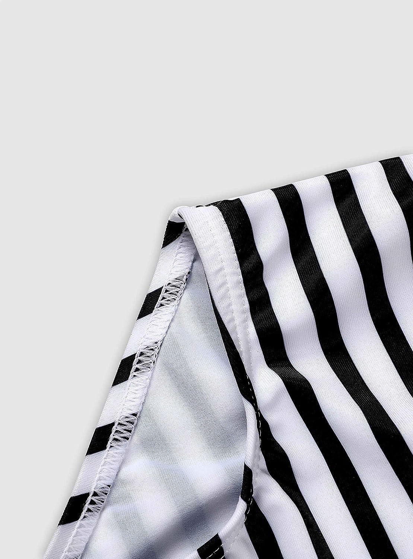 beautyin Baby Girls One Piece Swimwear Ruffle Swimsuit Striped Swimming Cosutme